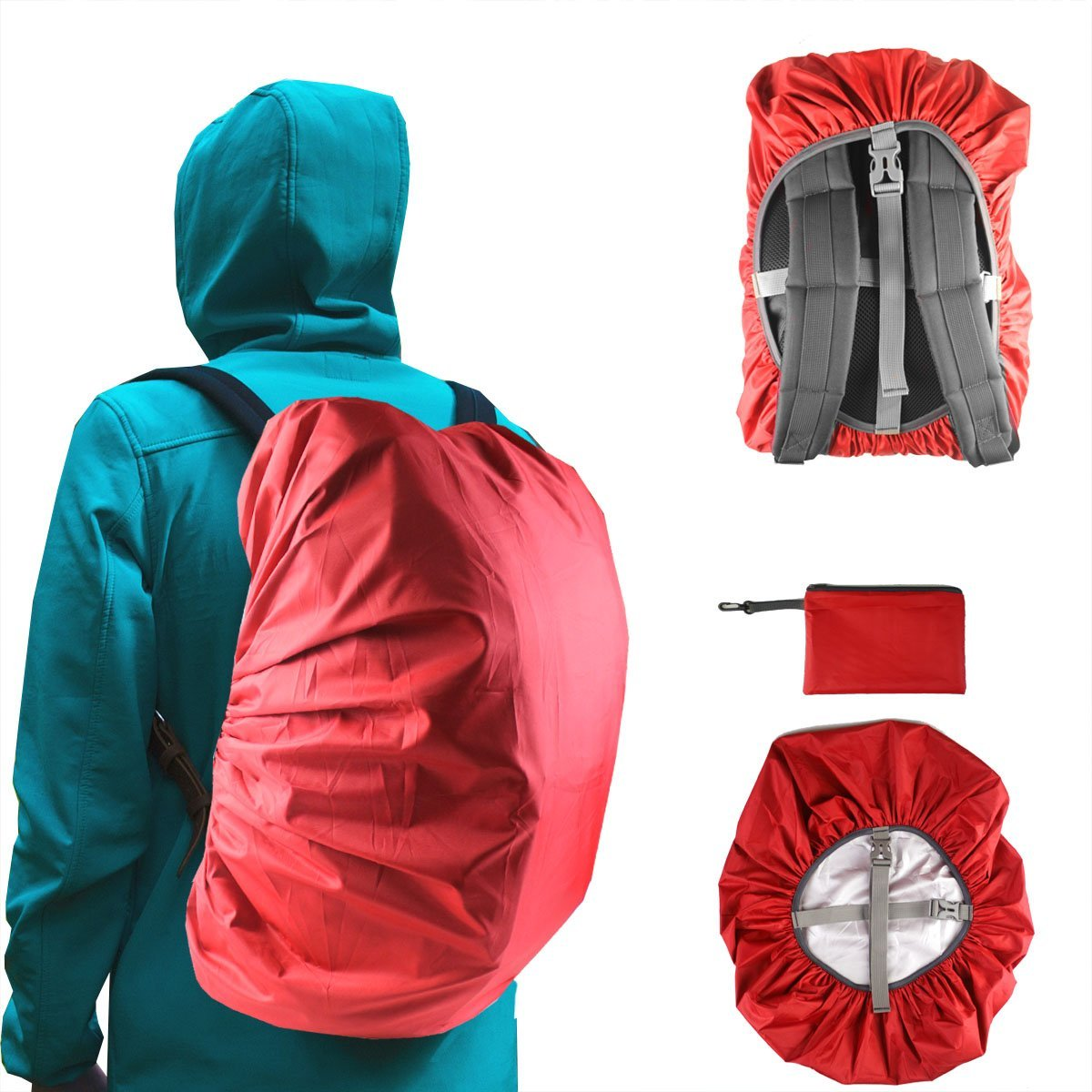 Frelaxy Backpack Rain Cover, 100% Waterproof & All-OVER Protection & Wear-Resisting and Durable (Multiple Colours and size)