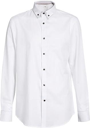 next Hombre Camisa Cuello Doble Estampado: Amazon.es: Ropa y ...