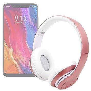 DURAGADGET Auriculares Plegables inalámbricos en Color Rosa para Smartphone Xiaomi Mi 8, Xiaomi Mi 8