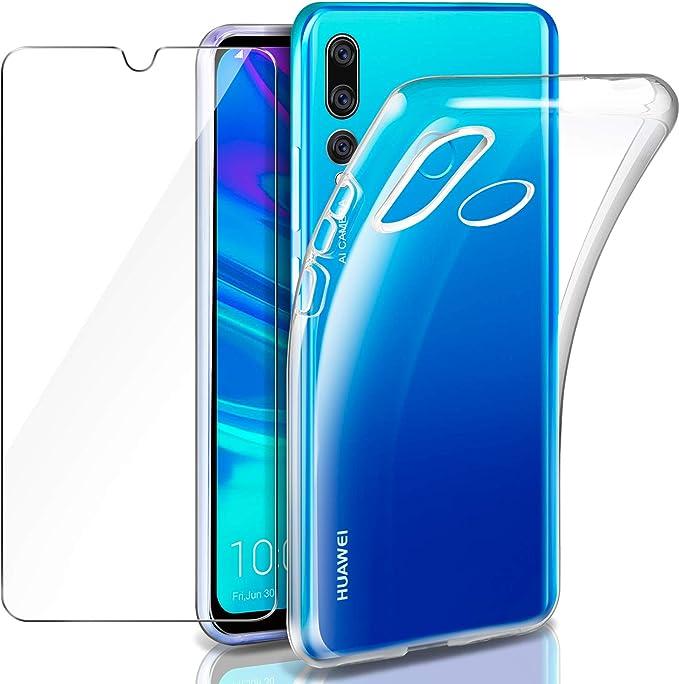 Leathlux Huawei P Smart Plus 2019 Funda + Protector de Pantalla ...