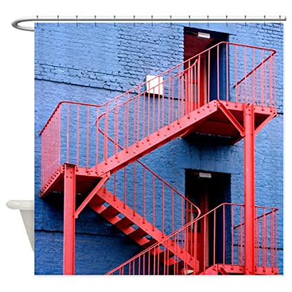 CafePress   Fire Escape Staircase   Shower Curtain   Decorative Fabric  Shower Curtain (69u0026quot;