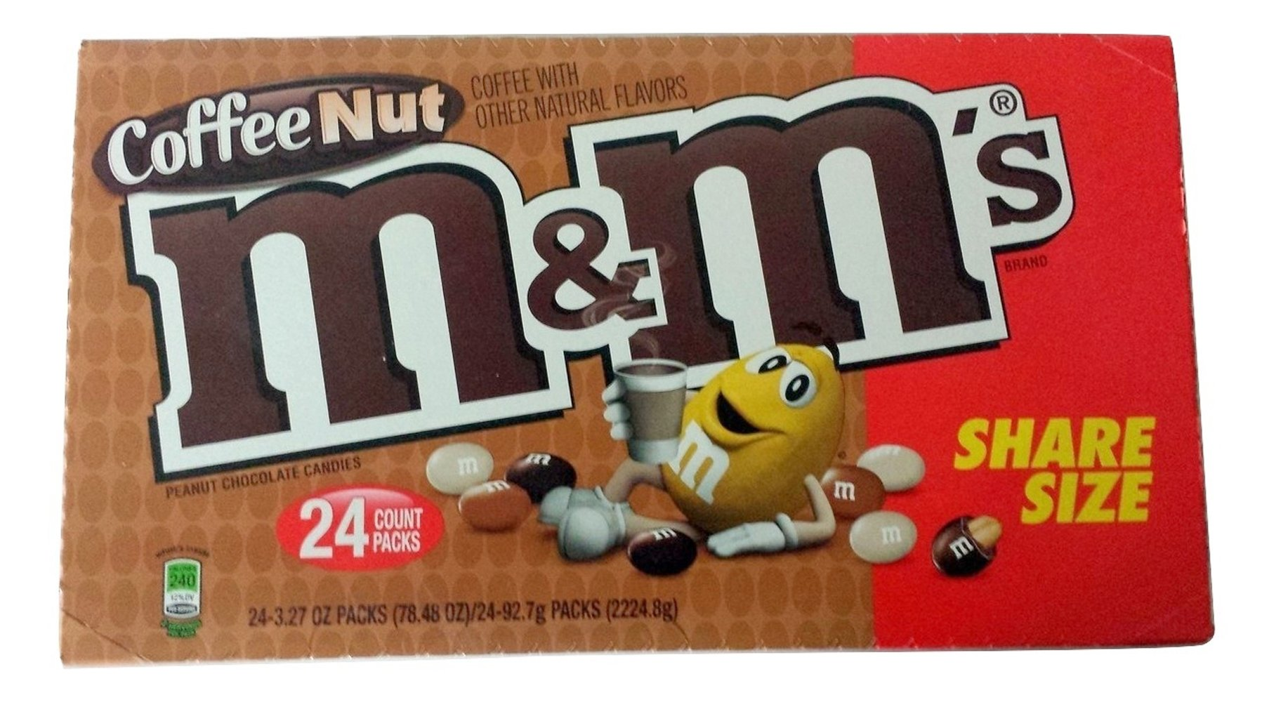 M&M Coffee Nut Sharing Size 3.27oz Packs 24 Count by Mars