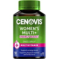 Cenovis Women's Multi+ Energy Boost - Multivitamin - Supports Physical Stamina - Assists Sugar Metabolism, 50 Capsules