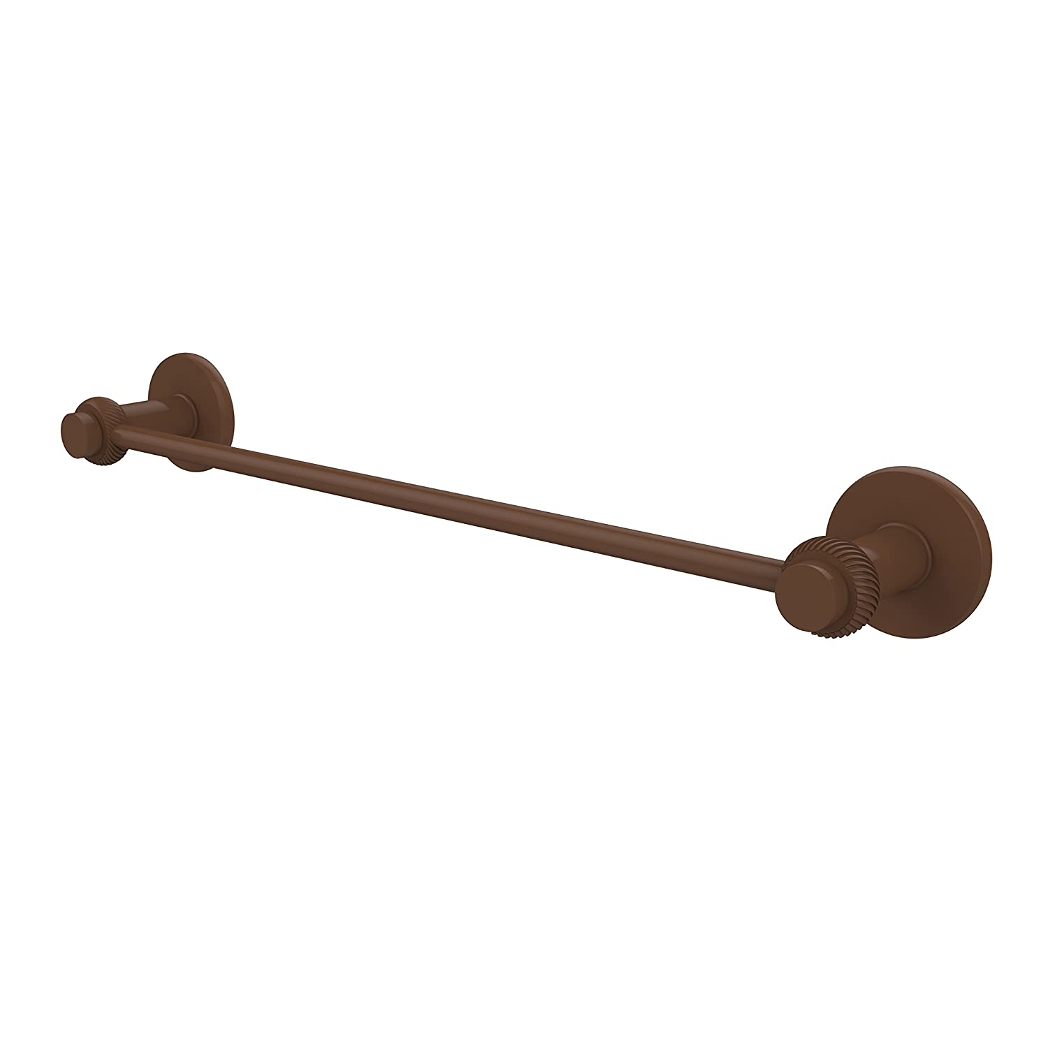 Allied Brass 931T//30-ABR Mercury Collection 30 Inch Towel Bar with Twist Accent 30-Inch Antique Brass