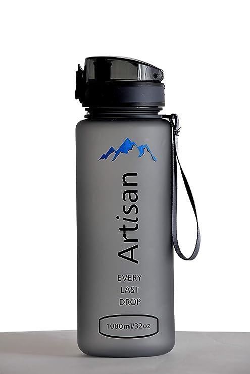 73dd67865f Artisan Sport Water Bottle, Water Bottle with Time Marker, 32oz Insulated Water  Bottle,