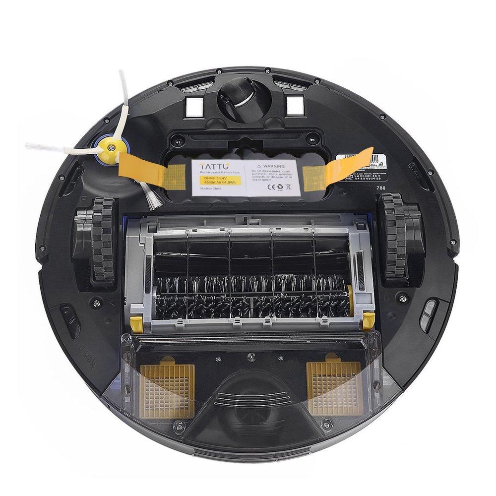Tattu 14.4V 4500mAh Ni-MH batería de repuesto para iRobot Roomba 500 600 700 800 de la serie 510 520 530 531 532 533 534 535 550 555 560 562 570 580 581 582 ...