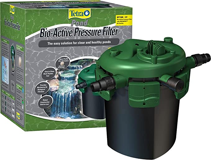 TetraPond Bio-Active Filtro de presión con clarificador UV: Amazon ...