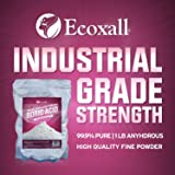 Ecoxall Chemicals Number 1 Multi-Purpose Boric Acid Granular Powder 99.9% Pure Anhydrous 1 Pound Bag