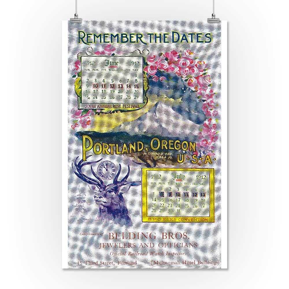Amazon Belding Bros Jewelers Advertisement 9x12 Art Print Wall Decor Travel Poster Arts Crafts Sewing