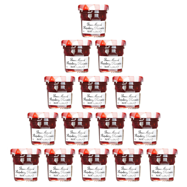Bonne Maman Raspberry Mix Preserve 70% Mini Jars - 1 oz x 15 pcs Kosher