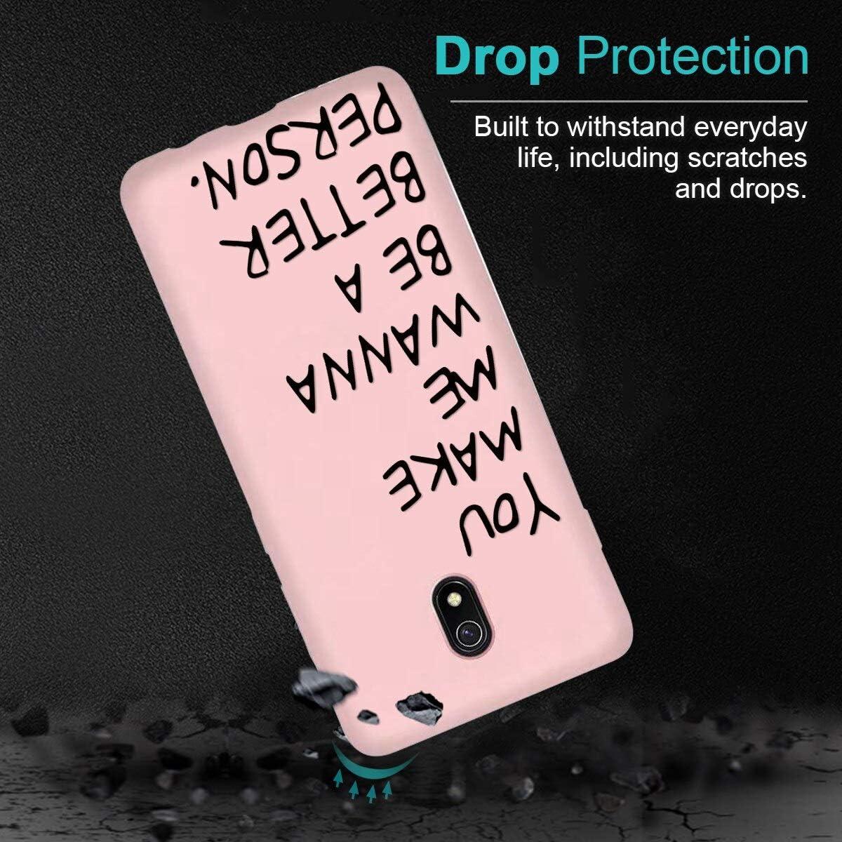 Pnakqil Custodia Xiaomi Redmi 8A Cover in Rosa,Custodia per Xiaomi Redmi 8A Case in Silicone TPU Slim Cover Antiurto Anti-Graffio Ultra Sottile Back Case Cellulare Chiaro,Gatto 03