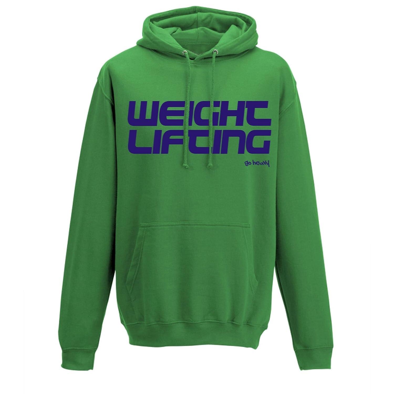 GO HEAVY Herren Hoody - Weight Lifting