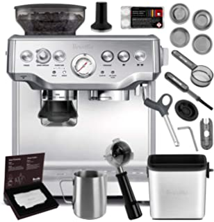 Breville BES870XL Barista Express Espresso Machine Brushed Stainless Steel + Manufacturers Warranty + Knock Box Mini