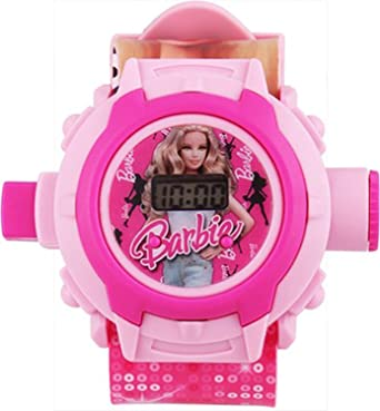 Sunny Rajwal Barbie 24 Images Projector Digital Kids Watch (Pink)