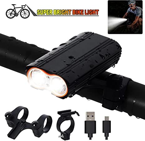T-SUN Conjunto Luces LED Bicicleta USB Recargable, Impermeable Set ...