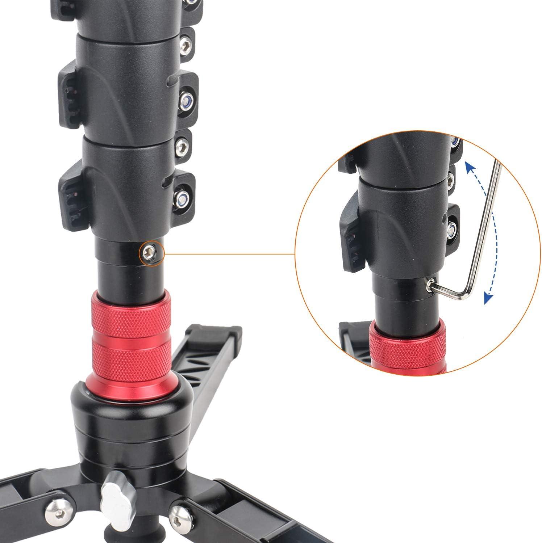 Avella C324D Carbon Fiber 67 Inch Camera Monopod Professional Telescopic Video Monopods Base Tripod Compatibility DSLR Cameras Camcorders
