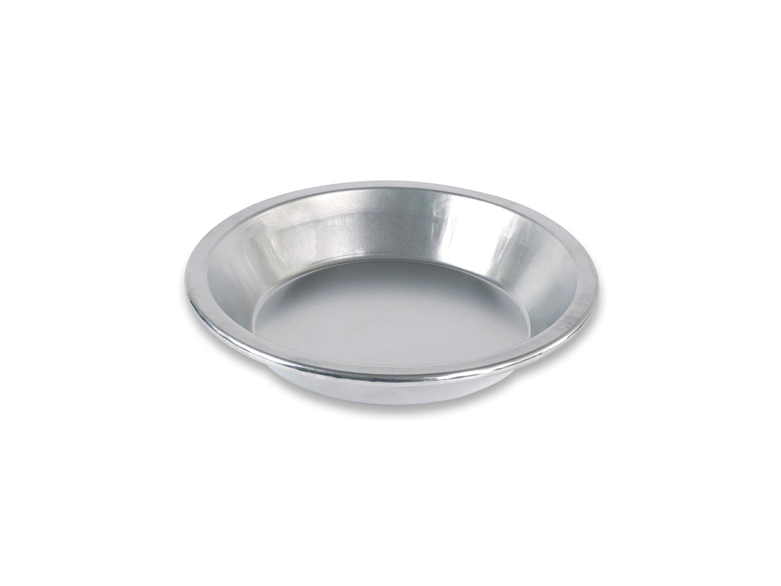 USA Pan Bare Aluminum Bakeware 1100PE-BB 9'' Pie Baking Pan Warp-Resistant, Rust-Proof Bakeware