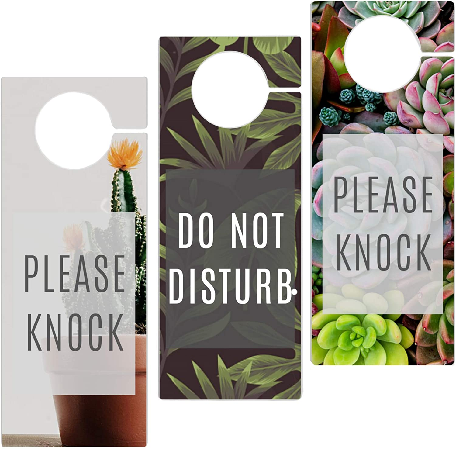 Privacy Door Hanger- 3 Pack- Do not disturb door sign for home or office. Easy to read. High Quality Thick PVC