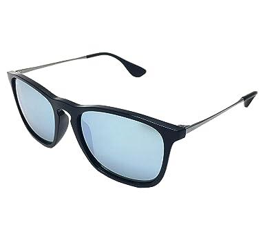 10124c6a661f New Ray Ban Chris RB4187 601/30 Black/ Green Mirror Silver 54mm Sunglasses