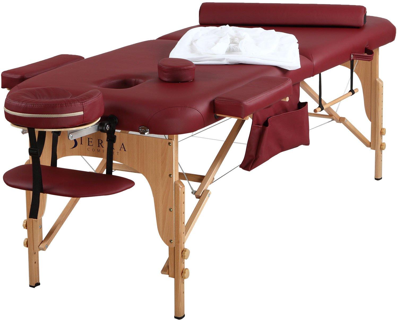 amazoncom sierra comfort all inclusive portable massage table burgundy sports u0026 outdoors