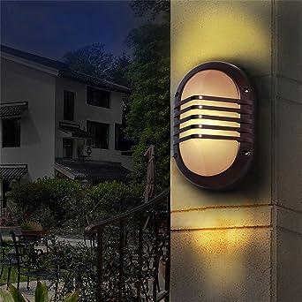 ZhuoYuan moderna Lámpara de pared Patio de luces de la pared exterior de las paredes del pasillo, las paredes están decoradas luz LED Iluminación Ming escalera de lluvia impermeable: Amazon.es: Iluminación