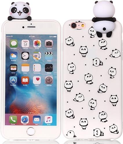 CoverTpu Cover iPhone 6s Plus Silicone 3D Morbido Gel Apple Antiurto Case Ultra Sottile Flessibile Gomma Protettiva Bumper Copertura Candy Custodia ...
