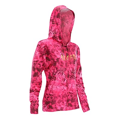 KOOFIN GEAR Performance Fishing Hoodie Women's Long Sleeve Hooded Sunshirt Quick-Dry UPF50: Sports & Outdoors