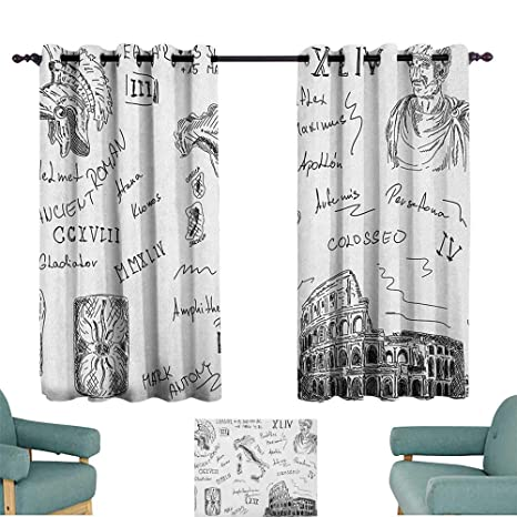 Amazon.com: Toga - Cortinas para puerta de patio con iconos ...