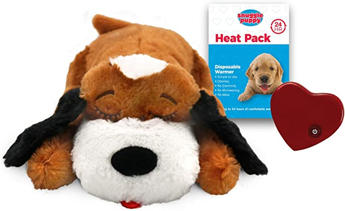 Smartpetlove Snuggle Puppy Behavioral Aid Toy Brown And White Pet Supplies