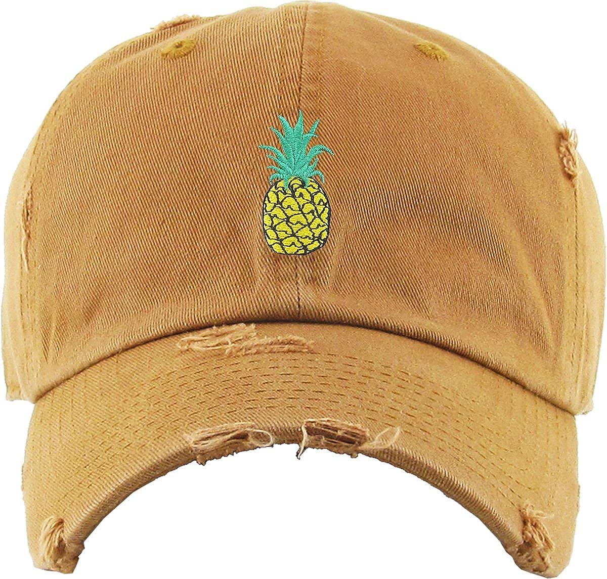 KBETHOS Pineapple Dad Hat Baseball Cap Polo Style Unconstructed