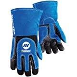 Welding Gloves, 3D, Wing, 13In, BlueBlack, PR