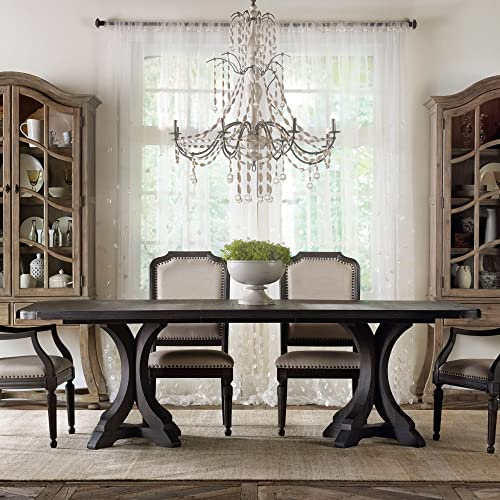 Hooker Furniture Corsica 79 Rectangular Pedestal Dining Table with 2 Leaves
