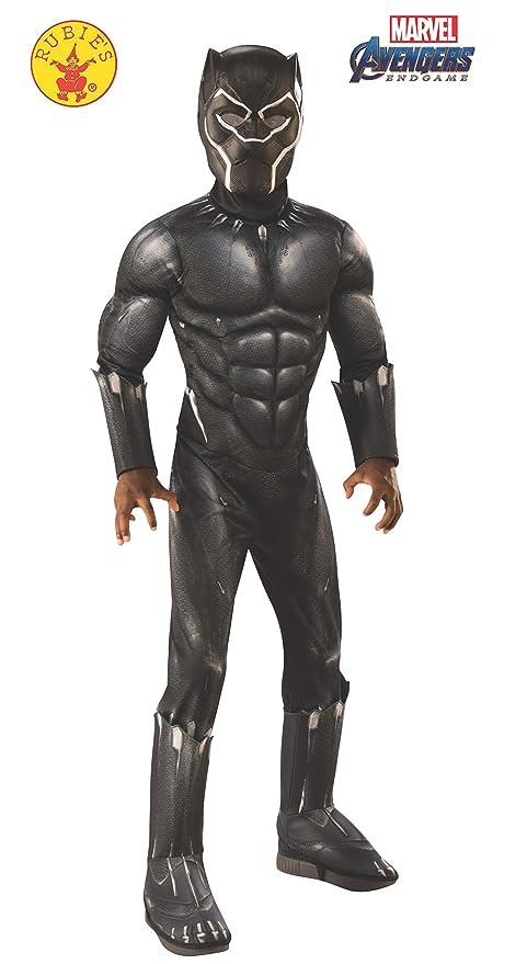 Rubies - Disfraz Oficial de la Pantera Negra de los Vengadores, tamaño Grande, 8 a 10 años, Altura 147 cm