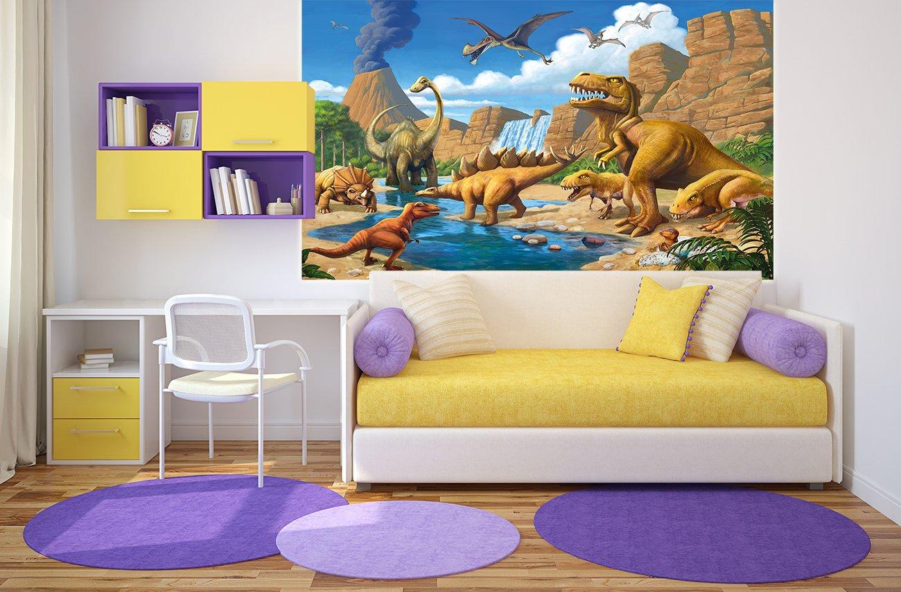 Poster kinderzimmer abenteuer dinosaurier   wandbild dekoration ...