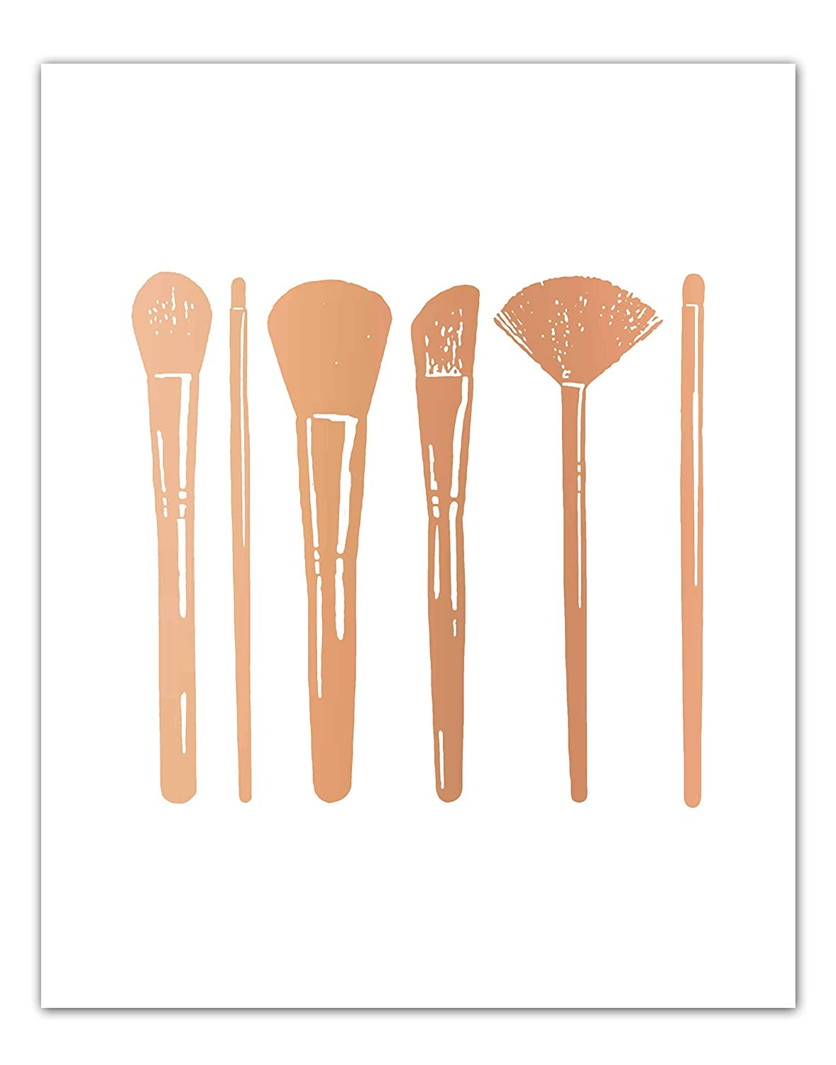Amazon Com Makeup Brushes Bathroom Wall Decor Rose Gold