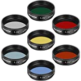 Neewer 1.25 inches Telescope Moon Filter, CPL Filter, 5 Color Filters Set(Red, Orange, Yellow, Green, Blue), Eyepieces…