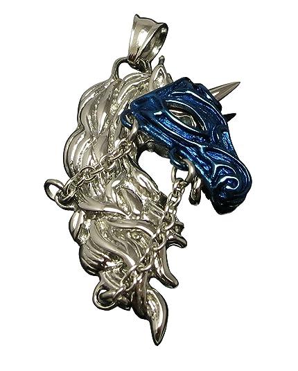 Kikuchi Collar acero inoxidable colgante Unicornio Batalla ...