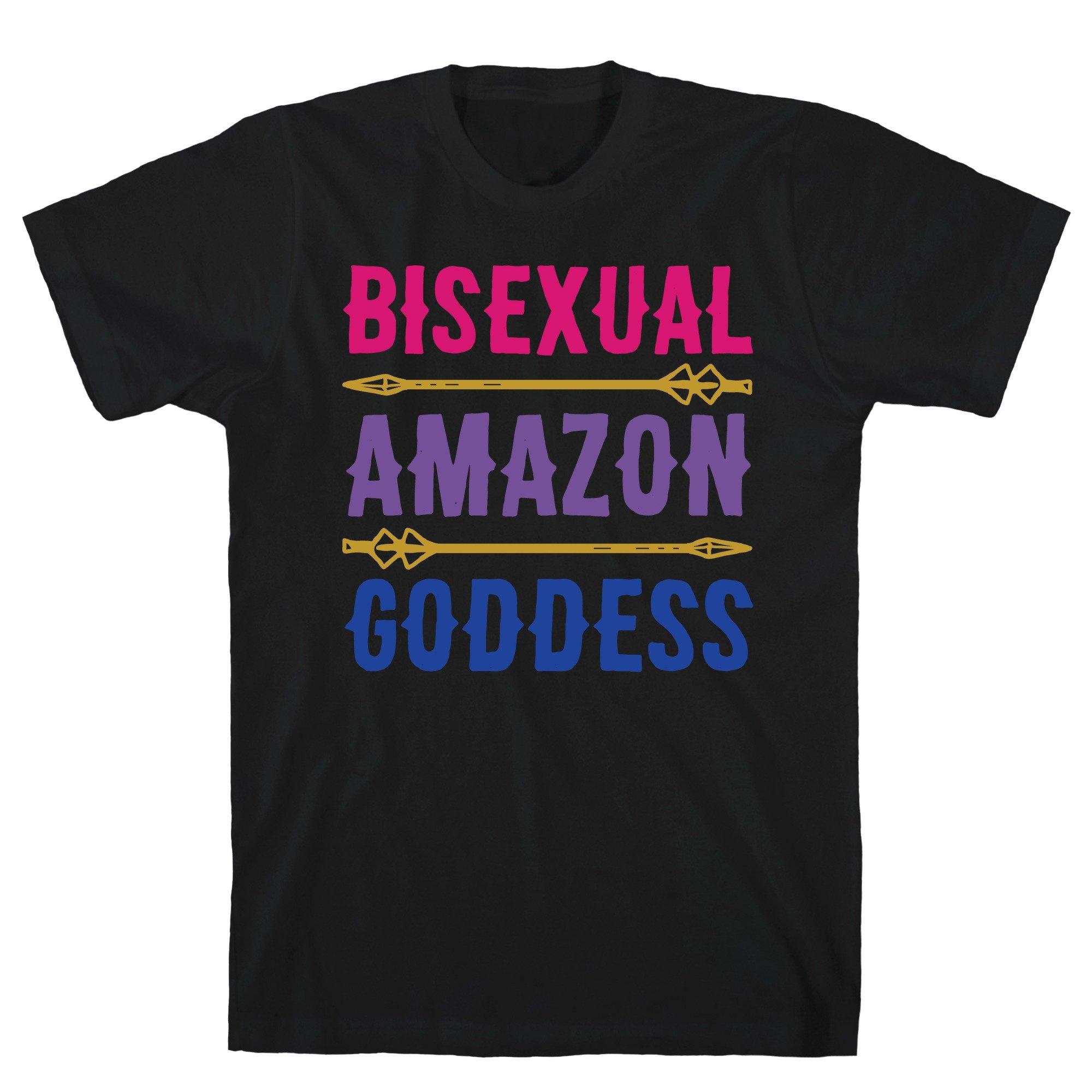 Bisexual Amazon Goddess Parody Print Black S Ts Shirts