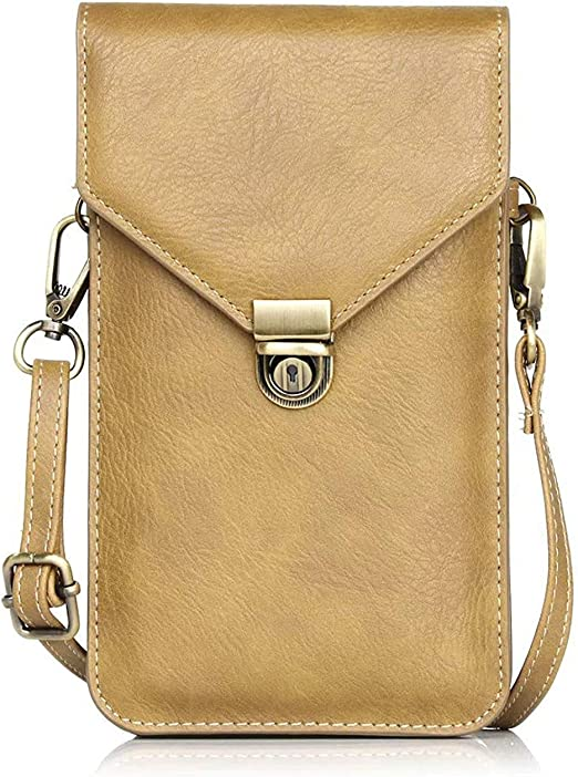 6.3 inch Lady Purse Strap Phone Wallet Leather Cross-body Shoulder Bag Pouch