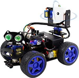 Yahboom UNO R3 DIY Smart Robot Car Kit with Camera STEM Education with Tutorial CD for Kids Teens Adults Remote Control Car