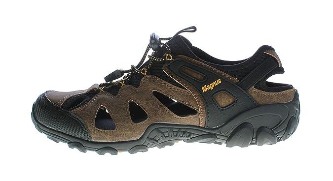 Herren Outdoor Sandaletten echt Leder Gummizug Halb Schuhe Sandalen Größe 40 46