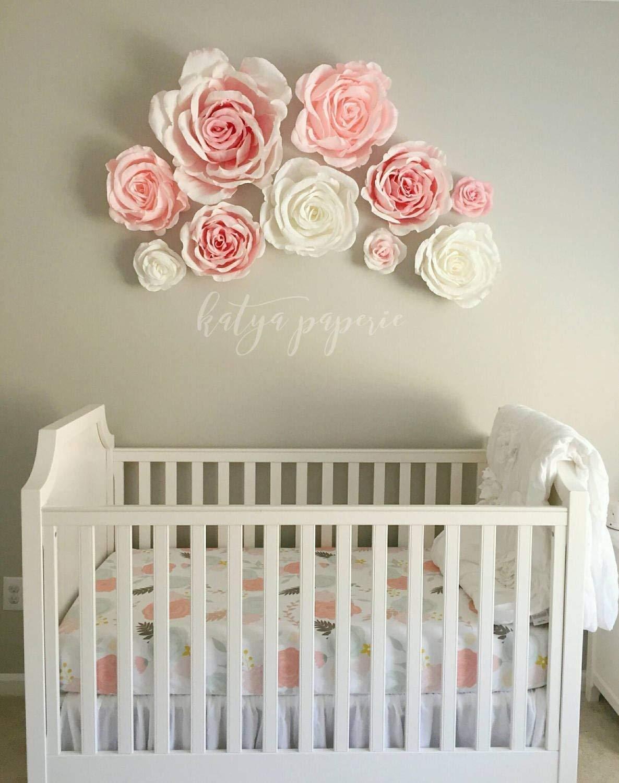 Amazon Com Nursery Wall Paper Flowers Paper Flower Wall Display