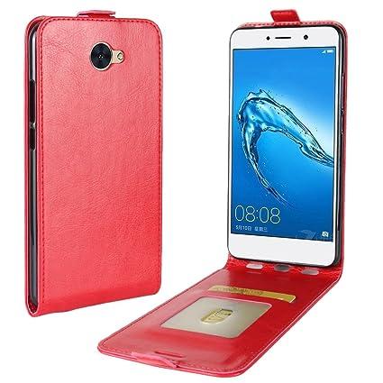 OFU® Para Huawei Y7 Funda,PU Hybrid Card Carry Pocket Wallet ...