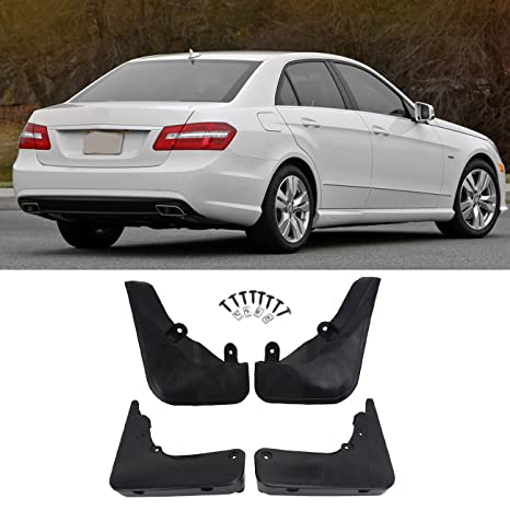 Front /& Rear Molded Splash Guards Mud Flaps AoChuang Benz E Class Sedan W212 2008-2013