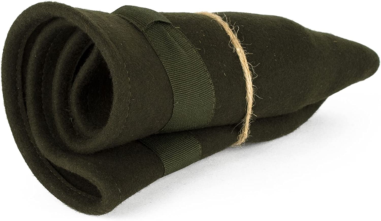 Elegant Wool Fedora Hat Waterproof /& Crushable Handmade in Italy