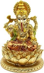 Hindu Elephant God Ganesha Statue - India GanpatiLord MurtiMandir - Indian Buddha Mandir Pooja Temple Handmade Wedding Return Gifts Decorations
