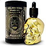 Aceite Para Barba Golden Skull   Incienso y Mirra   60ml   Natural y Orgánico   Suavizar, Acondicionar, Ayudar con la Picazón y las Escamas de la Barba, Mejorar el Crecimiento, Brillo y Grosor