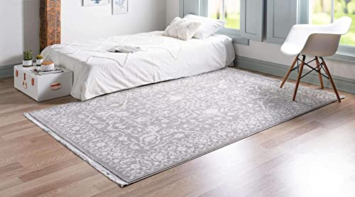 Unique Loom New Classical Collection Traditional Distressed Vintage Classic Light Gray Area Rug 10' 0 x 13' 0