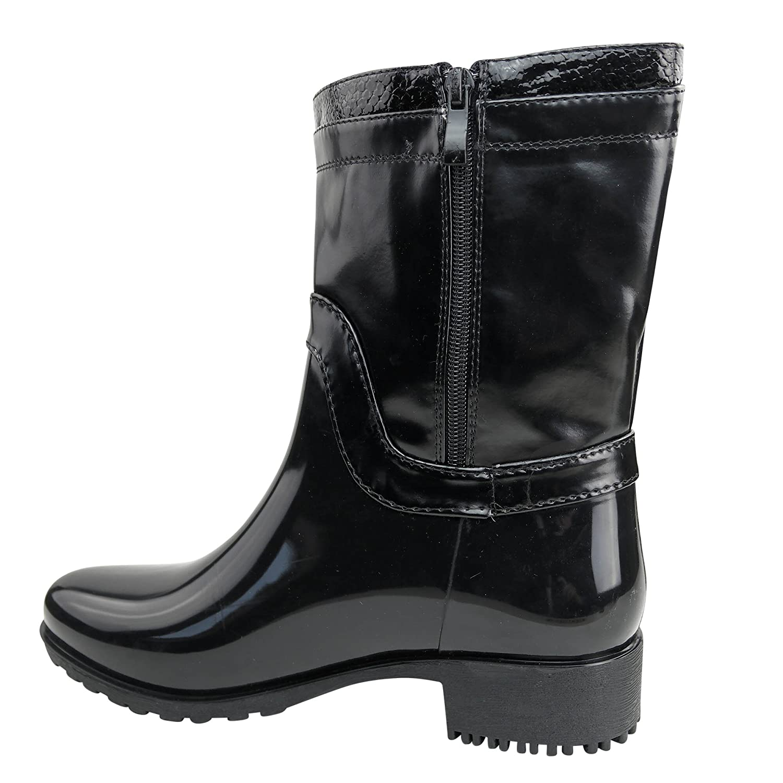 Schuhtraum Damen Stiefel Gummistiefel Lack Boots Stiefeletten Glanz ST15  Outdoor: Amazon.de: Schuhe & Handtaschen