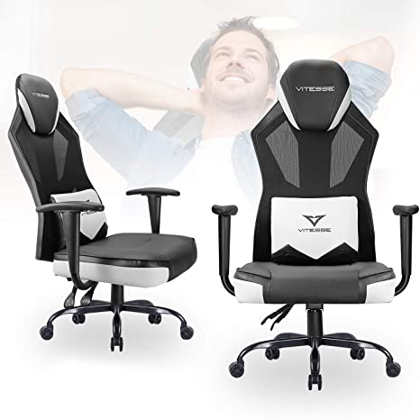 Remarkable Vitesse Gaming Chair Racing Office Chair High Back Mesh Swivel Desk Computer Chair Ergonomic Backrest Video Gaming Chair With Armrest And Lumbar Ncnpc Chair Design For Home Ncnpcorg